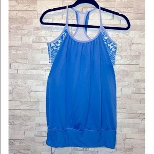 Lululemon No Limits Tank and in Beaming Blue